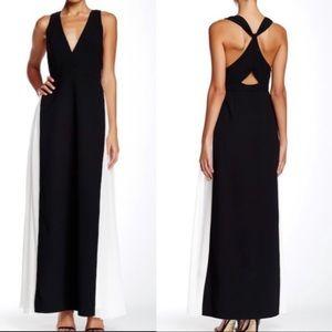 NWT- Jill Stuart Black & White Chiffon Gown
